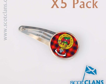 Scottish Clan Crest Hair Clip 5 Pack