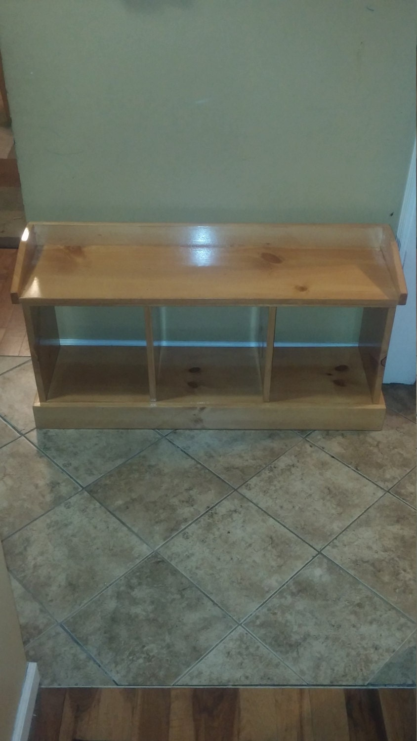 Entryway Bench, Handmade Wooden, Rustic And Country Home Decor, Mudroom  Organizer, Storage Bins,