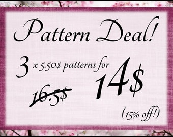 Great Pattern Deal! Amigurumi pattern deal! 15 % off!