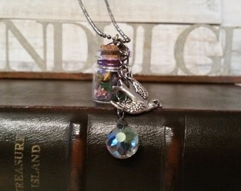 Dream Bird Vial Charm Pendant