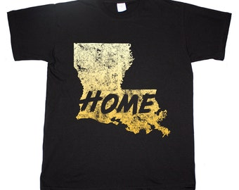 Louisiana State Home Tee Bayou State Baton Rouge New Orleans T shirt
