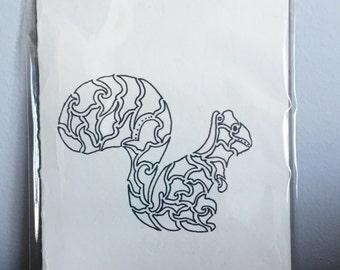 White Squirrel Card (blank)