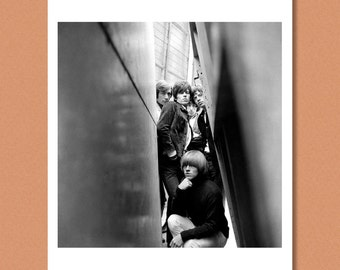 THE ROLLING STONES - Band portrait, London 1965 - Mick Jagger, Keith Richards - Giclée/Photo print