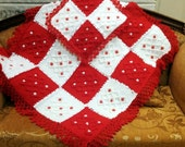 Crochet Baby Blanket / Handmade Crochet Baby Blanket, Baby Flower Gift Baby Boy and Baby Gril