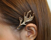 2XWomen Golden Antlers Hair Clip Head Jewelry Fashion Bridal Hair Decor Headpiece,Boho Chic Jewelries TL040