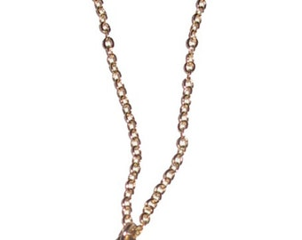 Map of Israel Necklace Goldtone