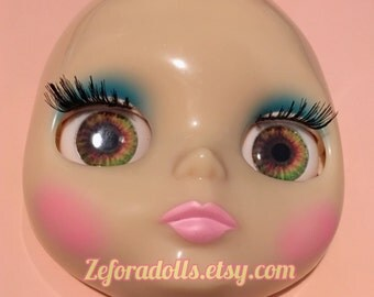 Realistic Dark Brown, Green And Orange Soft Resin Eye Chips For Blythe (14 mm)