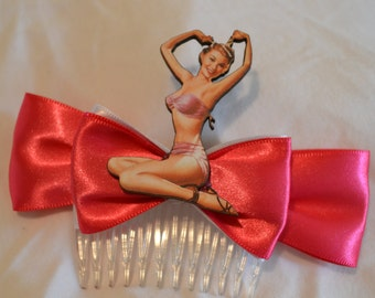 Pin Up Girl Hair Comb