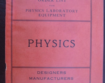 1909 Physics Lab Equipment Catalog, 144 Pages