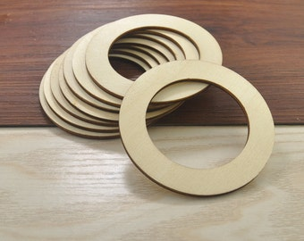Unfinished wood circles etsy nz for Wooden rings for crafts