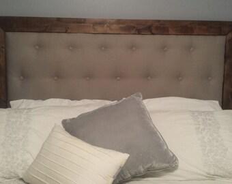 Rustic upholstered headboard