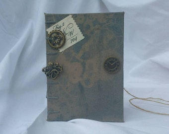 Journal or Notebook Steampunk Gentleman's Journal Gears, Octopus, Writing Prompts
