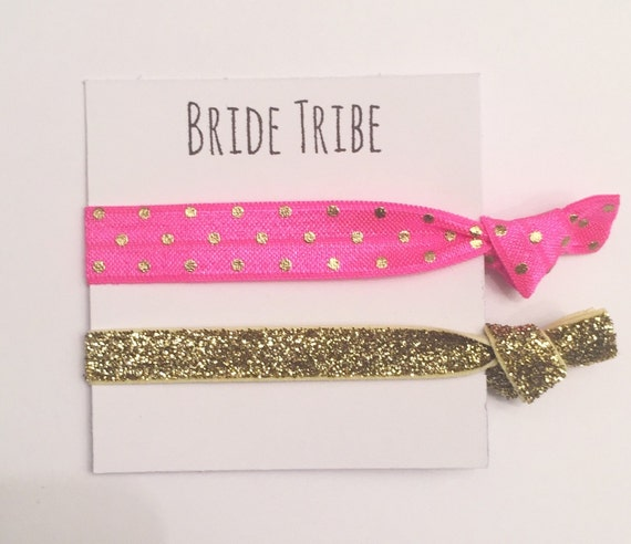 Bridesmaid hair tie favors//elastic hair tie favor, party favors, bridesmaid gift, bachelorette gift, hair tie card