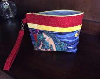 Cosmetic/Ditty Bag with Wristlet