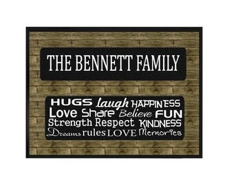 Personalized Family Name Sign, Family Plaque, custom family wall plaque, Family Sign, Housewarming gift, custom print