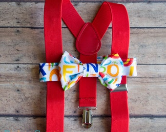 Toddler Bow Tie and Suspenders, Toddler Bowtie, Baby Bow Tie Suspenders, Bow Tie and Suspenders,Suspenders and Bow Tie for Boys, Bowties