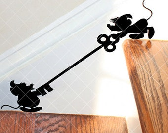 Mice Pals on Stairs Decal