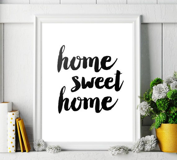 wall decor home sweet home printable art poster. Black Bedroom Furniture Sets. Home Design Ideas
