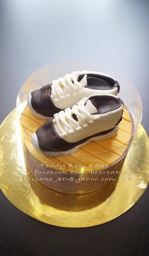 Jordan Basketball Shoes Fondant Cake Topper