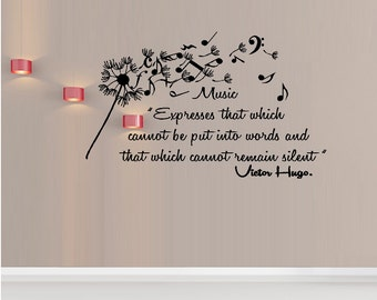 Music cannot remain silent #2: ~ Wall Decal