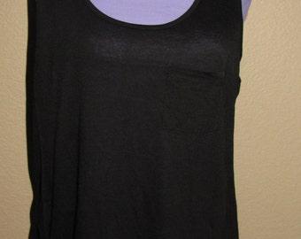 Plus Size Tank Top Plain Basic Tee for Women Sleeveless Standard Design