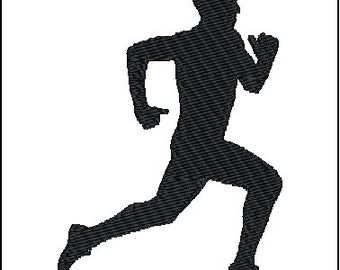 Runner Embroidery Design