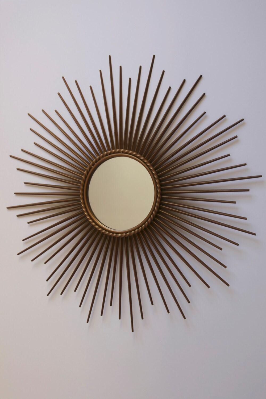 French vintage chaty vallauris sunburst miroir for Chaty vallauris miroir