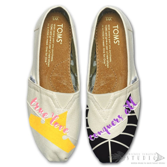 Custom Painted Sleeping Beauty TOMS Shoes FREE SHIPPING