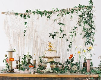 Macrame wedding backdrop, macrame photo backdrop, macrame decor, boho decor, bohemian wedding, rustic wedding, fairytale wedding