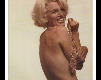 """Mature Vintage Pinup Marilyn Monroe Nude Sexy Pinup Wall Art Deco Book Print 9"""" x 10.25"""""""