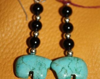 Native American Bear Earrings
