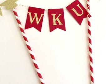 Graduation Cake Topper ~ College Graduation Cake Topper ~ Graduation Cake Bunting ~ Gold Party Decor ~ Graduation Cap Topper