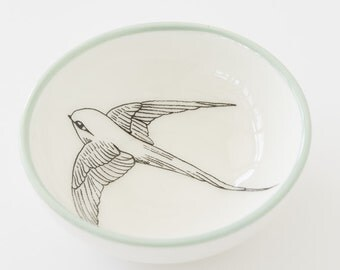 Ceramic Small Bowl - Swallow