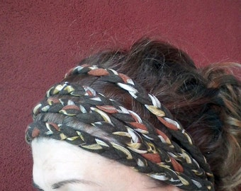 African headband, braided headband, dreadlock womens gift , christmas gift, gifts for her, accessories, clothing, head wraps