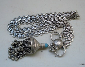 vintage antique ethnic tribal old silver necklace traditional jewellery