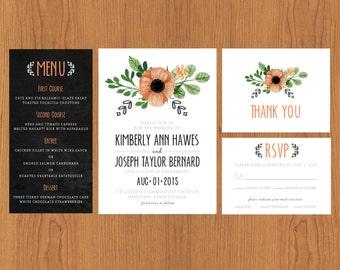 Rustic Wedding Stationary Set