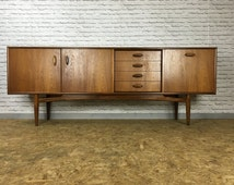 SOLD SOLD SOLD G Plan E Gomme Long John Retro Teak Sideboard Media Unit Credenza - Mid Century Vintage Danish Style