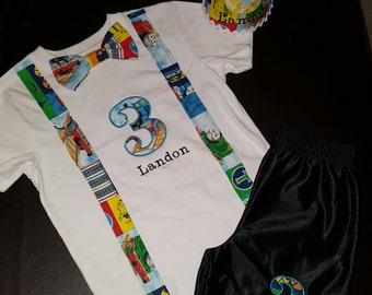 Thomas the choo choo train Birthday outfit