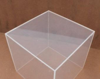 Vintage Lucite Cube Side Table .
