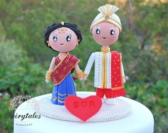 Indian Wedding Cake Topper With Stand