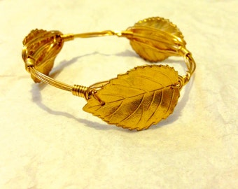Leaf Wire Bangle