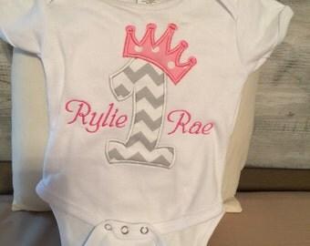 First birthday princess shirt or onsie