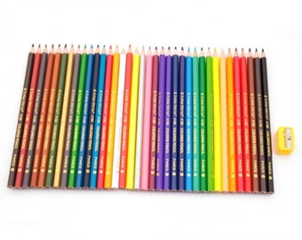 36 Classic Colors Wooden Art Drawing Pencils Set ....Free Shipping in US!
