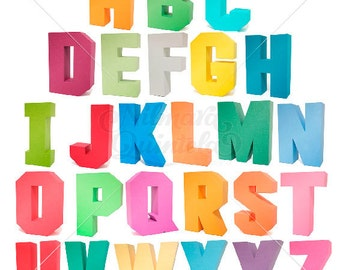 3D Square Letters Pack