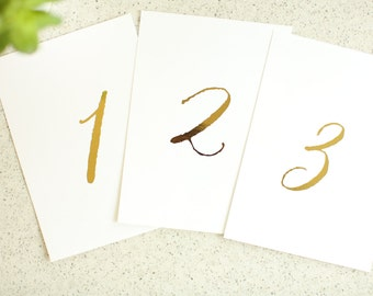 4 x 6 Gold Foil Table Numbers - Elegant