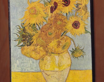 Van Gogh, Sunflowers F.455, repetition of the 3rd version  Philadelphia Museum of Art, Philadelphia, United States.FREE SHIPPING