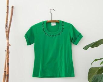 Vintage Green Top | small-medium | womens