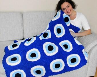 Evil Eye Sofa Throw Blanket - TXT002