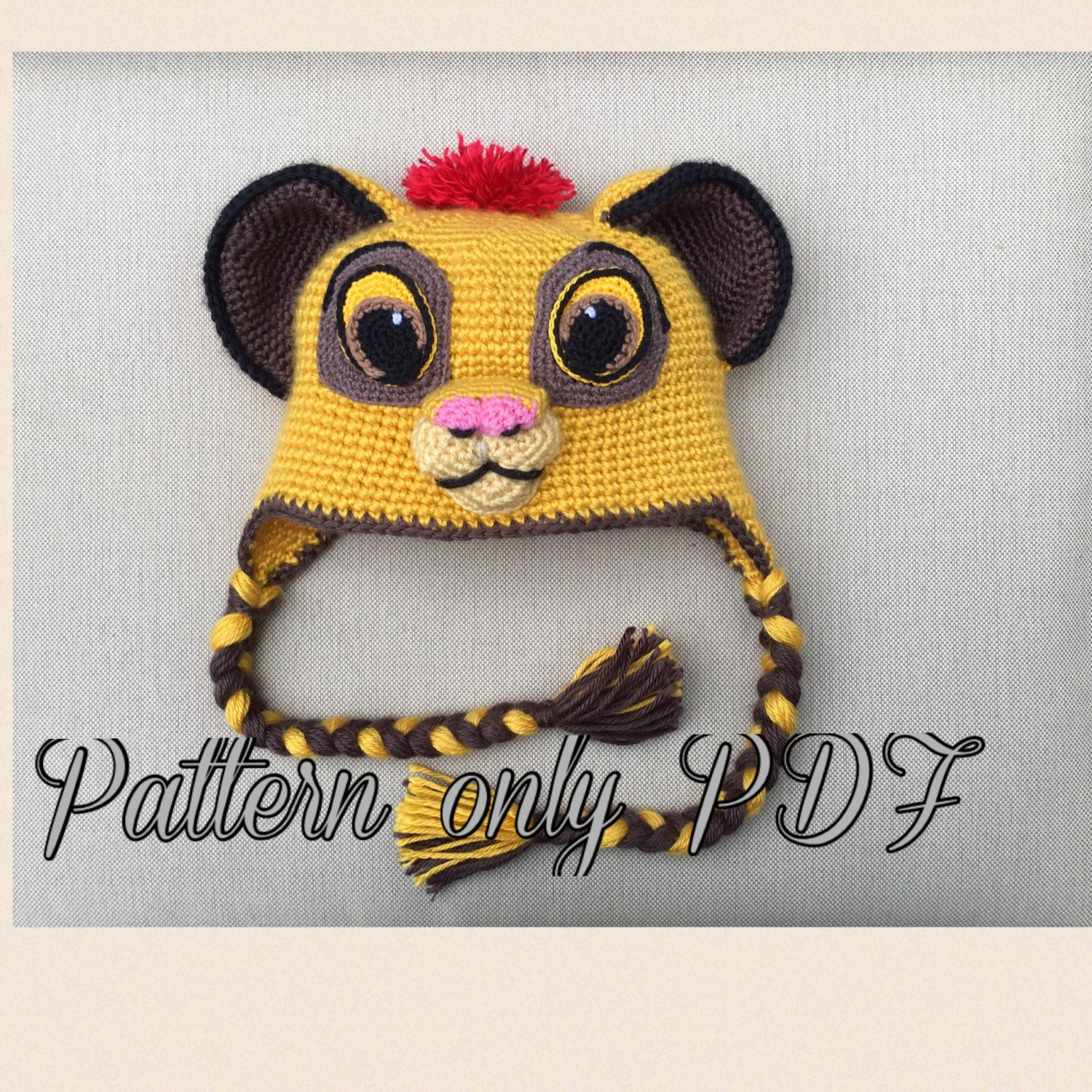 Lion hat crochet pattern pdf from ambercraftstore on etsy studio lion hat crochet pattern pdf bankloansurffo Image collections