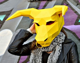 Bull Paper Mask
